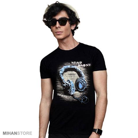 خرید تی شرت مردانه هدفون مشکی