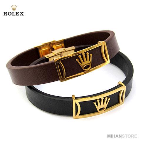 خرید دستبند چرم رولکس