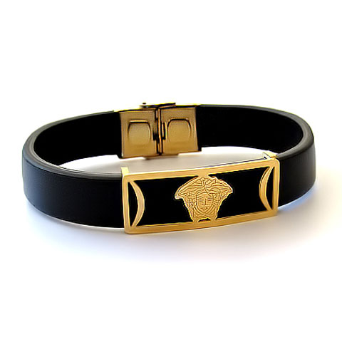 خرید دستبند چرم ورساچه