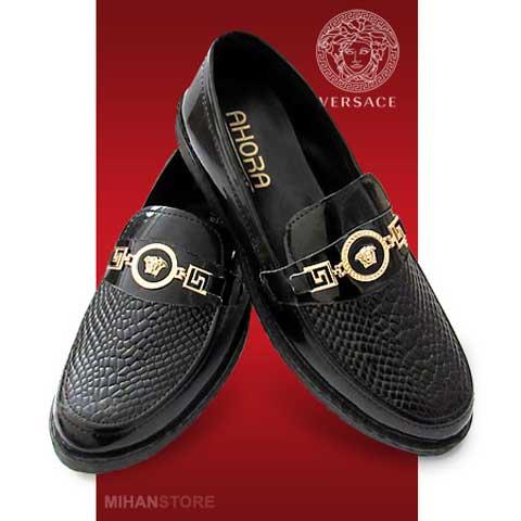 خرید کفش ورنی مردانه Versace