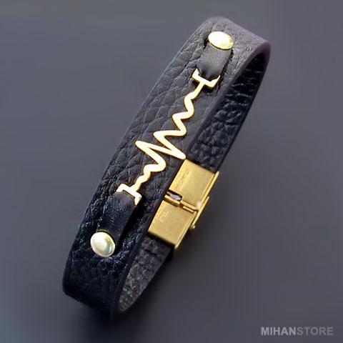 خرید دستبند چرم ضربان قلب