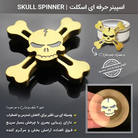 خرید اسپینر حرفه ای اسکلت (جمجمه) Skull Spinners