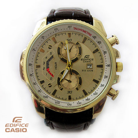 خرید ساعت مچی بند چرم کاسیو مدل EF 558