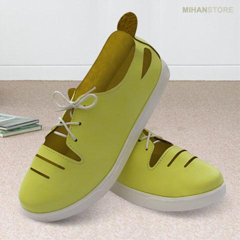 خرید کفش دخترانه لیمویی