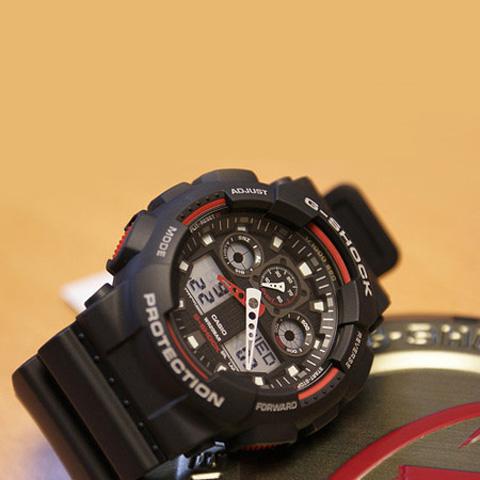 خرید ساعت مچی دو زمانه کاسیو جی شاک GA-100