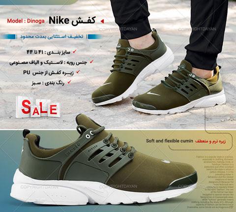 خرید کفش مردانه نایک Nike مدل Dinoga سبز