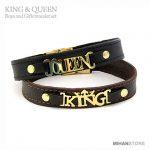 خرید دستبند چرم کینگ و کویین King And Queen